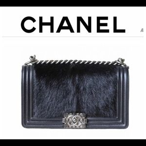 Authentic Chanel Boy bag Pony hair